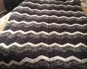 Grays Ripple Design Afghan/Throw/Blanket