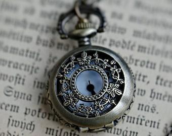 Brass Pocket Watch Necklace number 14