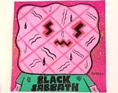 Black Sabbath Post-It Painting (Giant Robot)