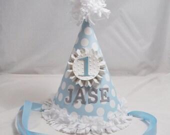 Boy Shabby Chic 1st Birthday Party Hat
