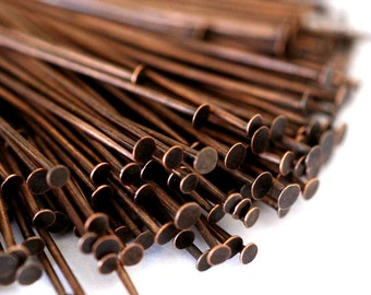 300ps 35mm Antique Copper Headpins FINDING