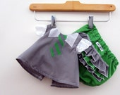 Hogwarts Slytherin Student Costume - Swing Set - Shirt and Diaper Cover