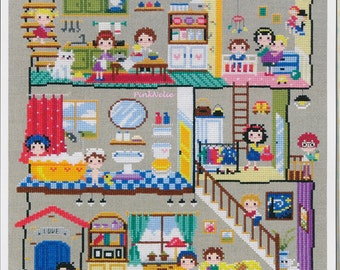 Little House - G40 - Counted Cross Stitch Original Design Pattern Chart