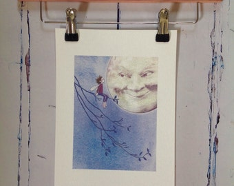 Elfin Moonlight unframed print