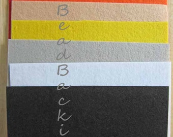 Nicole's BeadBacking 9x6 NBB 7 colors  Beading Foundation Fabric Textiles Bead Material  Art Supplies