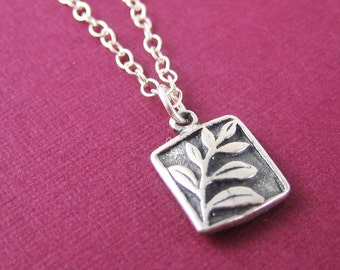 Best Friend Gift Sterling Silver Leaf Charm Necklace Holiday Sale Minimalist Jewelry Nature Jewelry Under 50