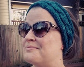 Teal Cable Knit Headband Earwarmer