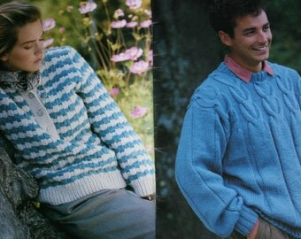 Sweater Knitting Patterns Family Circle Vol 8 No 6 by elanknits
