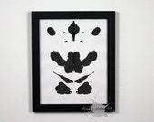 Inkblot Art Rorschach test Inspired ORIGINAL Vertical/Portrait Orientation 12 8X10
