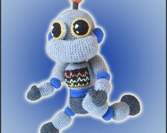 Amigurumi Pattern Crochet Robbie Robot DIY Instant Digital Download