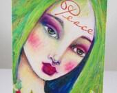 Christmas Card Set Peace on Earth Angel by Suzi Blu