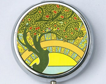 Art Nouveau Tree PiLL case pillbox pill holder