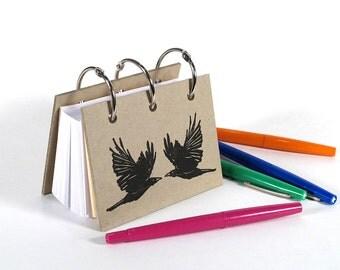 Card-File Address Book Double Stuffed - Black Birds