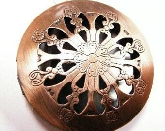 2pc antique copper fancy photo pendant-4166