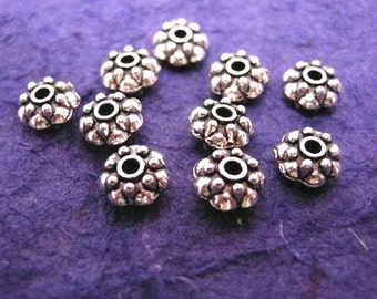 15pc antique silver metal round spacer/bead-1282