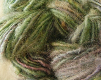 NEPTUNES BOUQUET Handspun Wool Yarn Romney Fleecespun 105yds 3.6oz 8wpi aspenmoonarts knitting art yarn