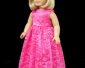 American Girl Doll Clothes Bridesmaid Formal Gown Party Dress SewSoNancy Boutique