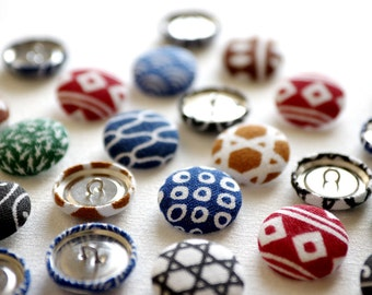 8 buttons - Cloth covered buttons