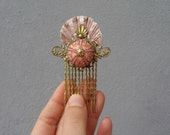 Mermaid Hair Comb - Sea urchin, Shell and vintage filigree