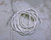 Simply White 100% Silk Cords Strings for Kumihimo Braids, Necklaces, Bracelets