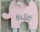 Elephant Bow Holder, Hair Bow Holder, Bow Keeper, Girl Decor, Hand Painted, Personalized,Hair Clip Holder, Clip Holder