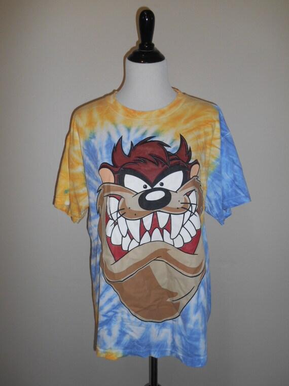 vintage tazmanian shirt t shirt tie dye