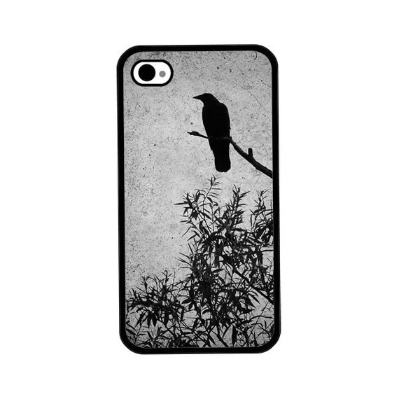 Phone Case - Crow Photo - Hard Case for iPhone 4, 4s, 5, 5s, 5c, 6, 6 Plus - iPod Touch 4, 5 - Galaxy S3, S4, S5