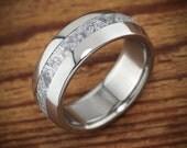 Meteorite Titanium Men's Wedding Band Polished