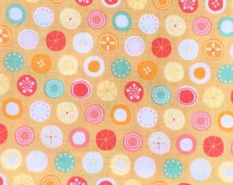 Japanese Fabric - Japanese Candy Fabric - Yellow Fabric -  Half Yard   110 cm x 50 cm (F84)