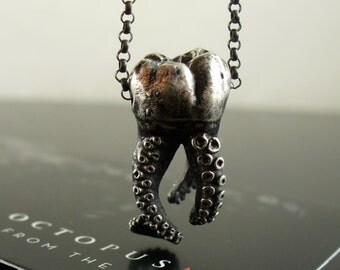 SALE - Wisdom Tooth Tentacle Pendant by OctopusME