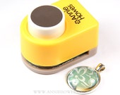 """24mm Circle Paper Punch for 1"""" Pendant Trays and 1"""" Glass. Annie Howes Brand."""