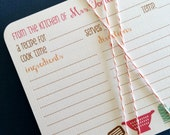 As seen on SOUTHERN LIVING Magazine- Personalized recipe cards, set of 20