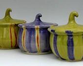 Harvest Jar -  Spice Jar - Decorative Jar -  Ready to Ship - Hand  Thrown Stoneware Pottery