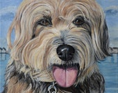 Custom pet portraits, cat and dog painting from photo,  8x8-16x16 canvas sizes. Heather sims