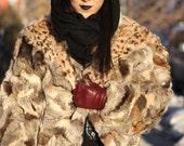 vintage 90s leopard batwing animal print vest coat jacket