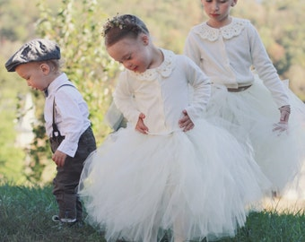 Sweet Flower Girl *Long* TuTu(size 4-6). CUSTOM COLOR tutu, Flower Girl tutu, Baby tutu, Custom Girls tutu, Birthday tutus, Wedding tutu