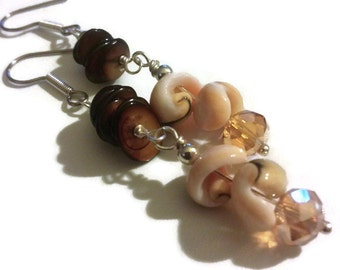 Earrings, Shell earrings, Shell Dangle Earrings, dangle earrings