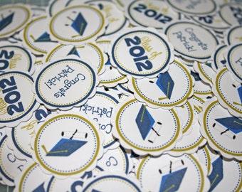 GRADUATION Table Confetti / graduation Confetti / graduation Table Minis / graduation party circles / ANY Color or Year
