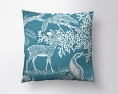 Little Deer Pillow // Spun Polyester Throw Pillow Case, Cover, With or Without Insert - Made in USA