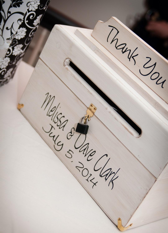 wedding card box thank you sign wood keepsake