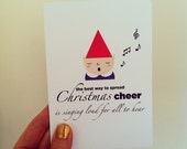 Single Elf Christmas Card! Inspired by Elf! The movie!