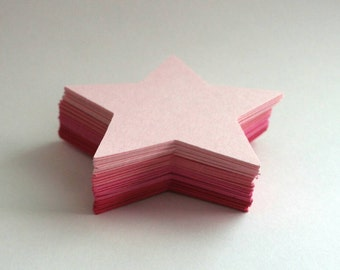 Shades of Pink Star Die Cuts (set of 60)