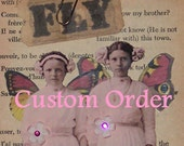 Reserved for Winnie** Secret Garden Collage Box - Fairy Box Altered Art - Shrine Box - Mixed Media 3D Assemblage Box -
