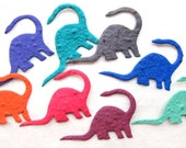 25 Seed Dinosaur Birthday Party Favors - Plantable Paper - Kids - Unique and Educational Brontosaurus