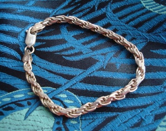 Seventies Magic  Sterling Wheat Bracelet