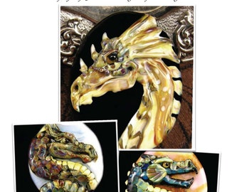 NEW Tutorial Dragon Lampwork Bead by Kerribeads - Instant Download PDF file