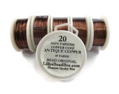 Antique Copper Wire - 20 Gauge Round Wire for Making Jewlery, Non Tarnish Wire, Wire Wrapping Supplies