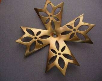 Filigree Cross Snowflake Charm - Large