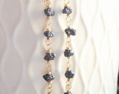 Black Diamond Rough Uncut Nugget Dangles - SALE
