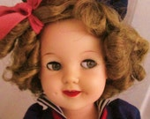 Shirley Temple Doll RESERVED 19 inches 1950's Ideal Classic Vintage dolls on etsy